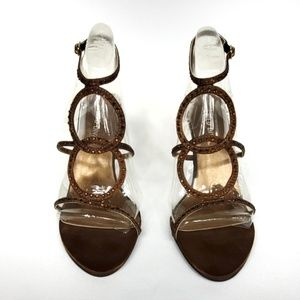 Wild Diva Strappy Jeweled Sandal Heel